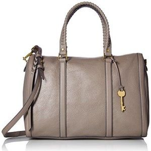 Fossil Kendall Large Satchel, Grey